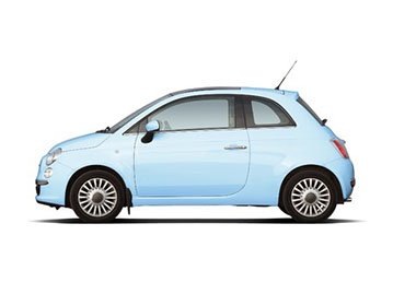 Fiat 500 Panoramic Car Rent Ibiza